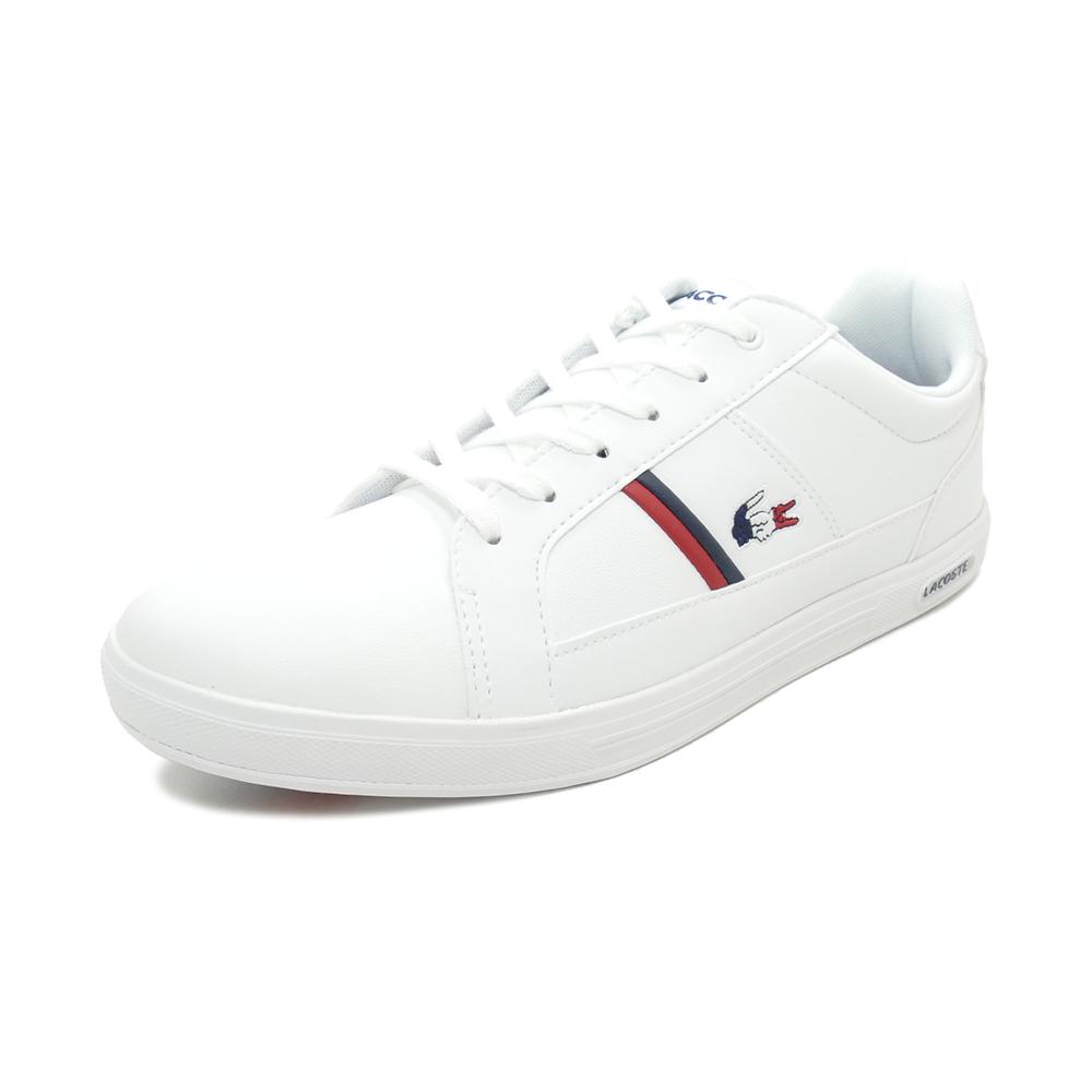 スニーカー ラコステ LACOSTE エウロパTRI1 ホワイト/ネイビー/レッド SMA031L-407 メンズ シューズ 靴 20Q1