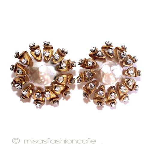 Miriam Lotus Kel Miriamhaskell Baroque Pearl Earrings Vintage Antique Jewelry Costume
