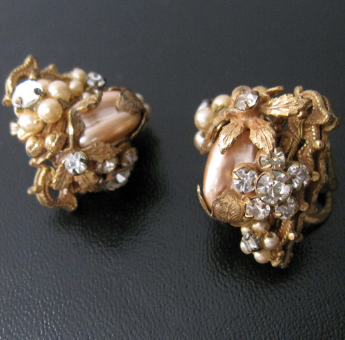 Vintage Original By Robert Baroque Pearl Earrings Antique Jelly Jewellery