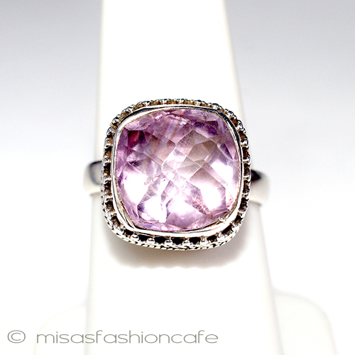 42812db11a64a1 mfcafe-japan: Natural stone amethyst ring sterling Silva ring ...