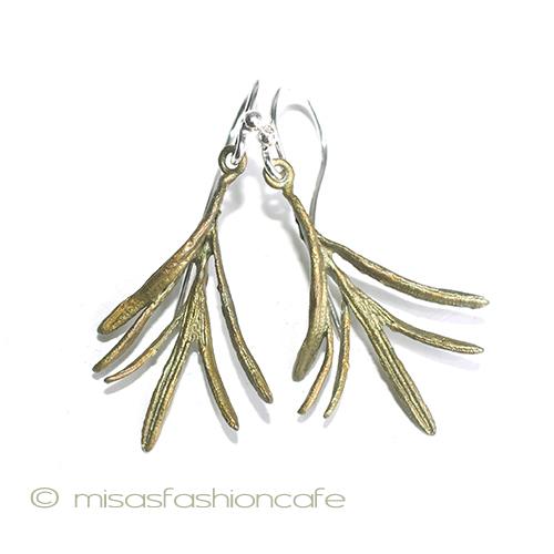 bdf4cfec9fd55 MichaelMichaud (マイケルミショー) herb rosemary pierced earrings or earrings MADE  IN USA