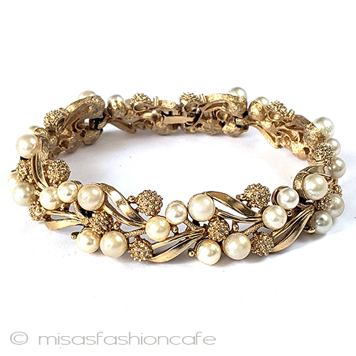 Trifari Crown Avian F Re Dandelion Bracelet Vintage Costume Jewelry Curio Flea Market