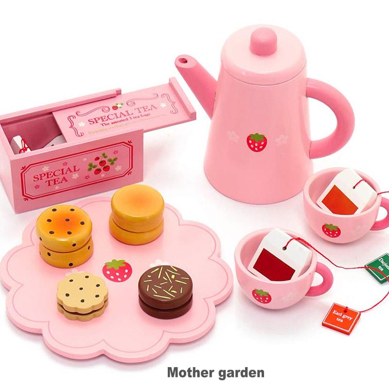 ぬくもりが感じられる木のおままごと。野いちご 木製 ままごと キッチン シリーズ マザーガーデン 木製 おままごと ままごと セット 野いちご ポット紅茶セット ティータイムセット スコーン・クッキー付きのお茶セット♪ 木のおもちゃ 知育玩具 女の子 | いちご イチゴ おままごとセット ままごとセット 誕生日プレゼント 子供 おもちゃ ティーセット