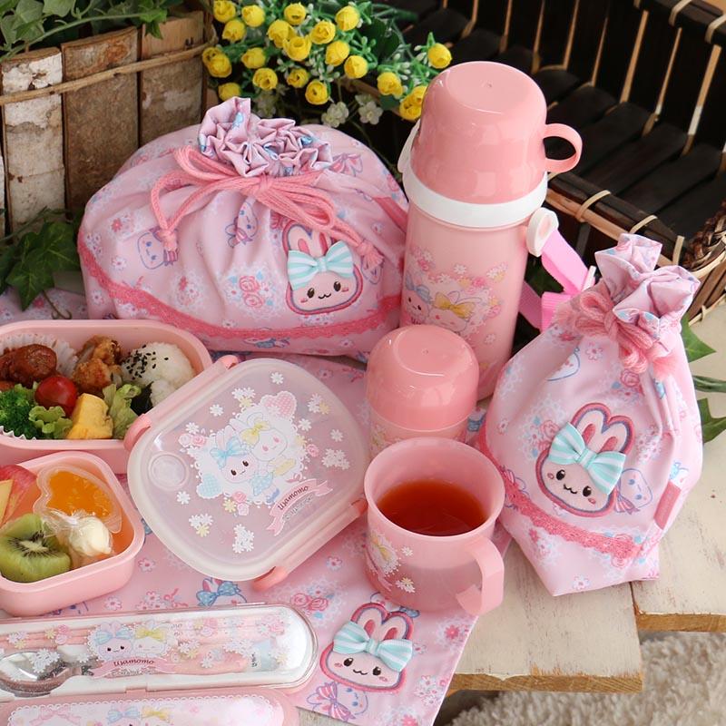 マザーガーデン うさもも ランチクロス 《お花レース柄》 お弁当用ナフキン 給食ナフキン 女の子 保育園 幼稚園