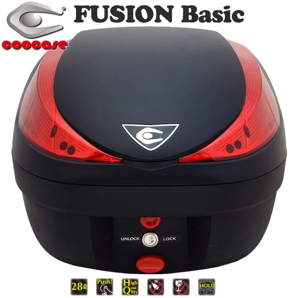 クーケース V28 FUSION Basic (フュージョン ベーシック) テールボックス 28L 無塗装ブラック