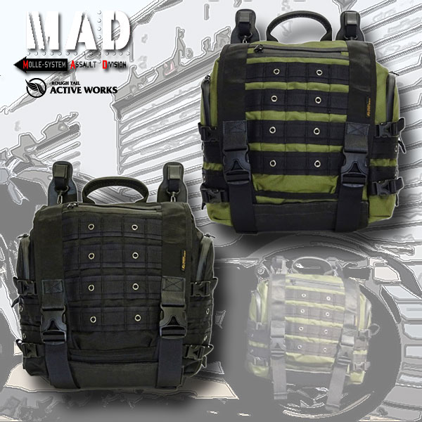 ★送料無料★MAD ASSAULT BAG-17 ラフテール マッド アサルトバッグ サドルバッグ Rough Tail Active WorksMADアサルトバッグ 17L