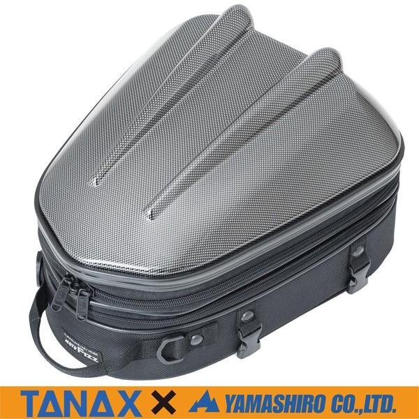 タナックス×山城 MFK-238CA シェルシートバッグMT (カーボン柄) 容量可変10~14L