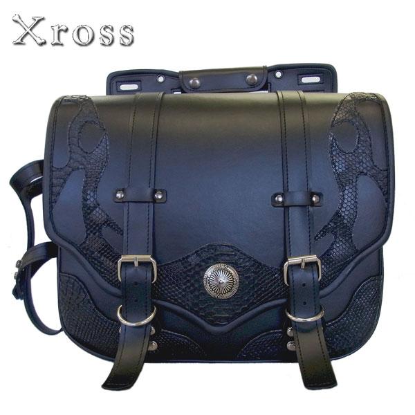 ★送料無料★Xross(クロス) SADDLE SINGLE サドルバッグ サイドバッグ【YF-401C/ブラック】