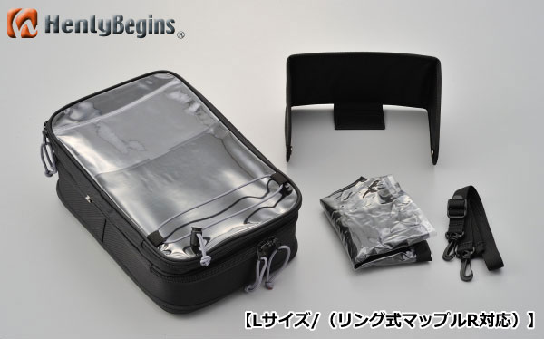 HenlyBegins/ヘンリービギンズ 95604 スマホタンクバッグ 【Lサイズ/リング式マップルR対応】