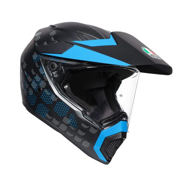 ★送料無料★AGV AX9 ANTARTICA (MATT BLACK/CYAN) アンタルチカ マルチパーパス ヘルメット