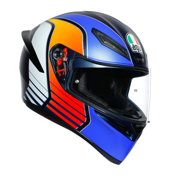 ★送料無料★AGV K1 POWER (MATT DARK BLUE/ORANGE/WH) フルフェイスヘルメット