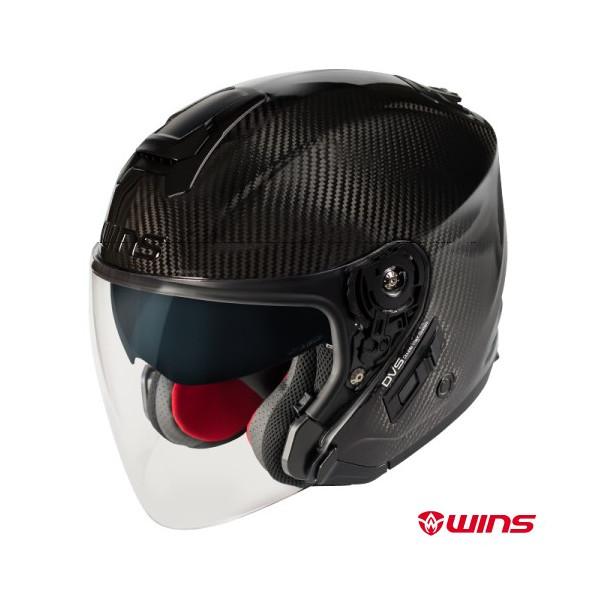 ★送料無料★WINS A-FORCE RS JET カーボン ジェットヘルメット インナーバイザー装備