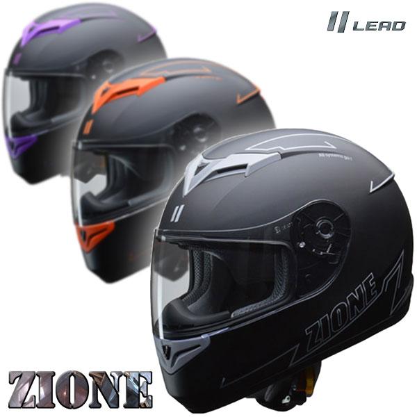 LEAD/リード工業【ZIONE/ジオーネ】人気のマットブラックをベースにベンチレーションとグラフィックにアクセントを持たせたシンプルながらインパクトのあるグラフィックモデル。 バイク/オートバイ用フルフェイスヘルメット