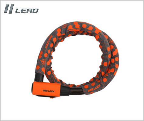 お買い得品 LEAD リード工業 内祝い BEELOCK LW-017 高セキュリティーリンクロック 安心ロック 1200 22Φ mm セキュリティ