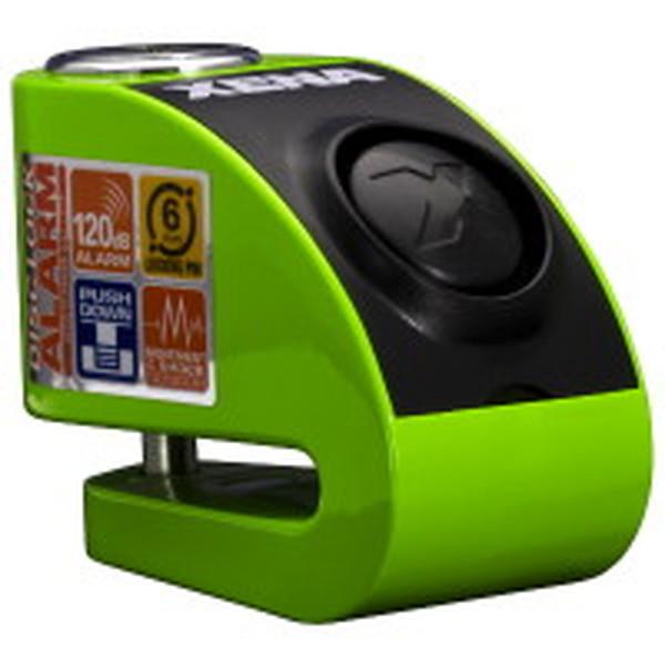 XENA XZZ6L-KG ゼナ ディスクアラーム(グリーン) アラーム付きディスクロック 876846003990 Q5K-AAA-001-254