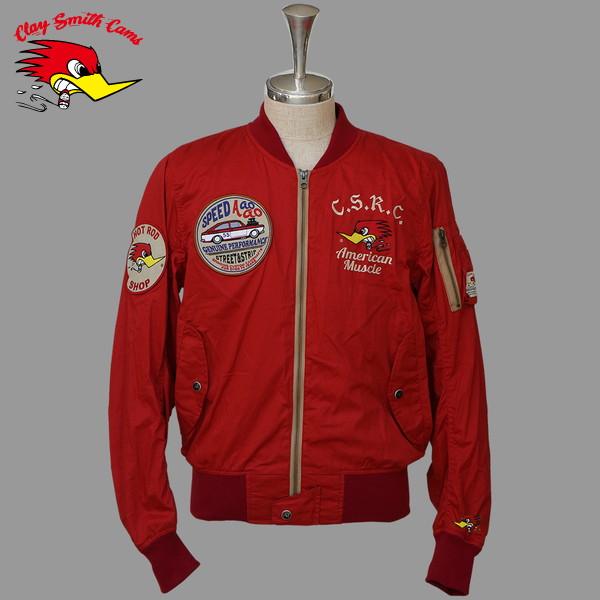 ★送料無料★ CLAY SMITH CSY-7192 BIG BIRD コットンジャケット(RED)