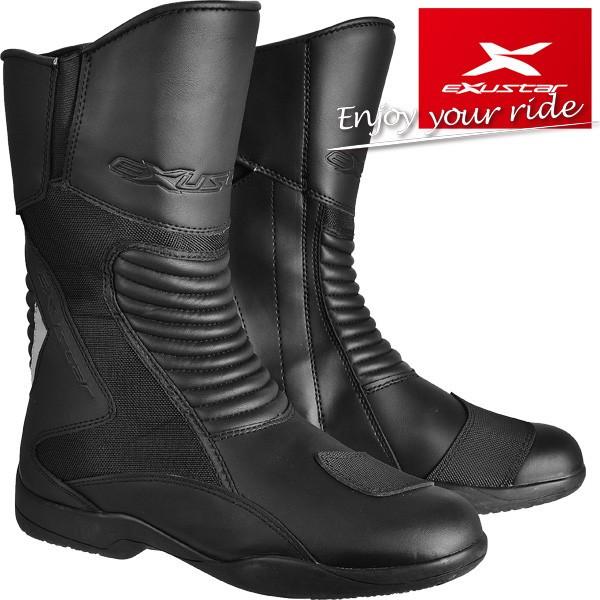 ★送料無料★ EXUSTAR ツーリングブーツ E-SBT1101W 耐水性・耐衝撃性に優れたツーリングモデル