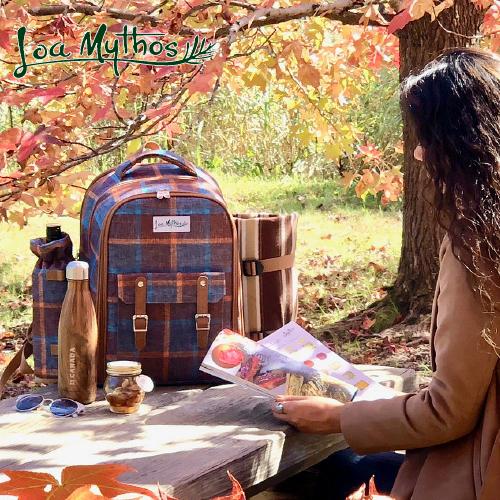 【LoaMythos】 ロアミトス ピクニックリュック2人用 1001420リュック ピクニック リュックサック アウトドア フォーク スプーン ナイフ まな板 食器 栓抜き おしゃれ かわいいアップデート