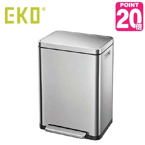 《ゴミ袋特典あり》EKO eko ゴミ箱 X-CUBE STEP BIN エックスキューブステップビン 45L EK9368MT-45L ナノ抗菌 キッチン ステンレス ふた付き 介護用 ダストボックス ごみ箱 おしゃれ ゴミ袋 イーケーオー コンパクト アップデート