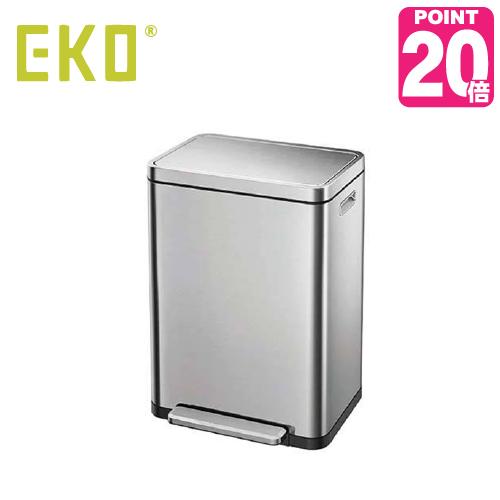 《ゴミ袋特典あり》EKO eko ゴミ箱 X-CUBE STEP BIN エックスキューブステップビン 30L EK9368MT-30L ナノ抗菌 キッチン ステンレス ふた付き 介護用 ダストボックス ごみ箱 おしゃれ ゴミ袋 イーケーオー コンパクト アップデート