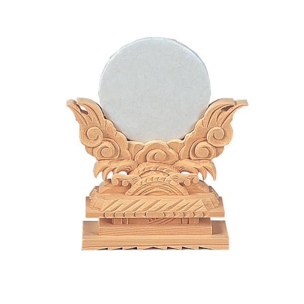 神鏡 上彫 2.5寸(木曽ひのき)[仏具 お供え物 仏具 仏壇]【メモリアルアートの大野屋】