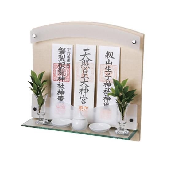 Neoシリーズ神棚 Neo 410G ヒノキ+神具セット 【選べる専用神具をセットに!】