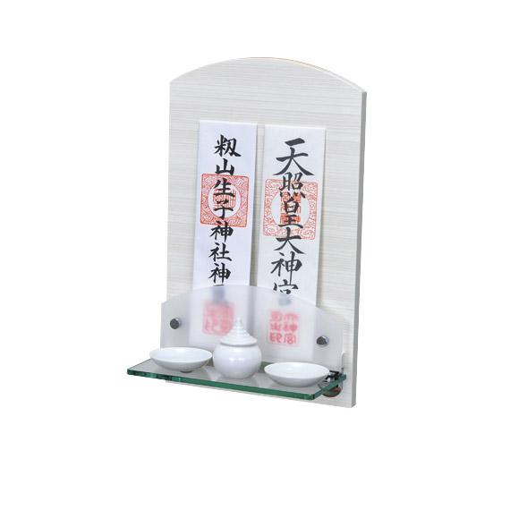 Neoシリーズ神棚 Neoミニ パールホワイト+神具セット 【選べる専用神具をセットに!】