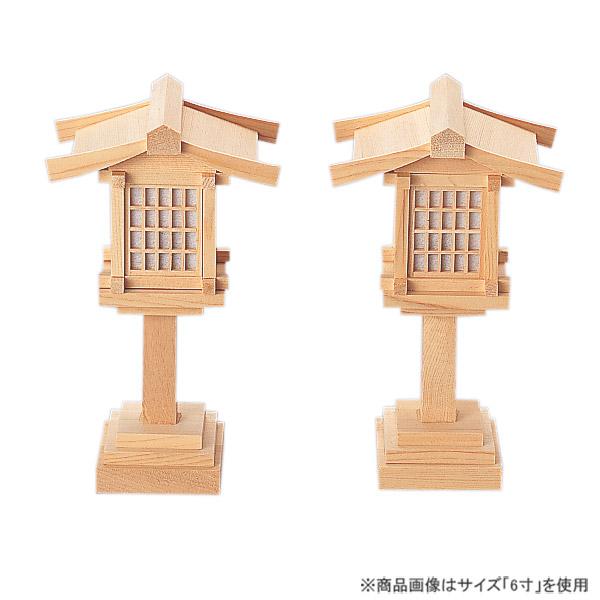 春日燈籠6寸コード式 (木曽ひのき)〔お取り寄せ品〕 [仏具 お供え物 仏具 仏壇]【メモリアルアートの大野屋】