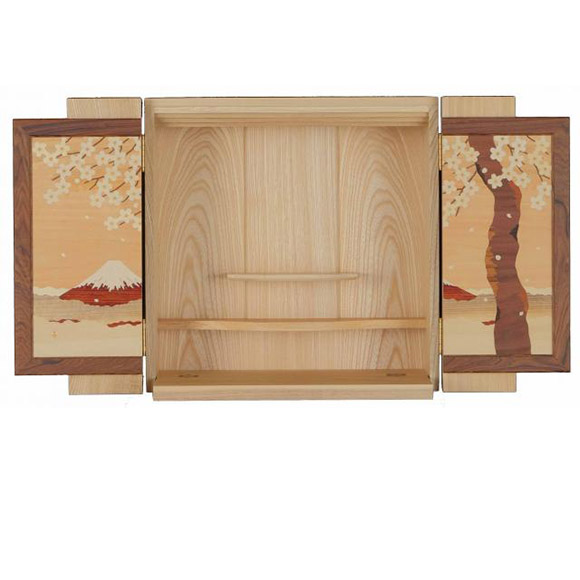 KABEDAN 壁壇 木象嵌 桜富士