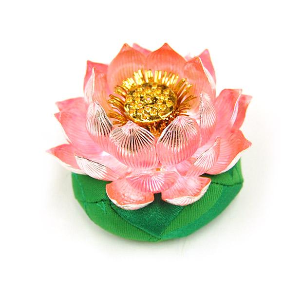 純銀製 蓮飾り【送料無料】お部屋のインテリアに。常花としてもお使いいただけます。[仏具 供養 おりん リン]【メモリアルアートの大野屋】