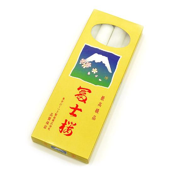 【ローソク】 富士桜 大ローソク 30号 (燃焼時間約12時間30分・4本入り)