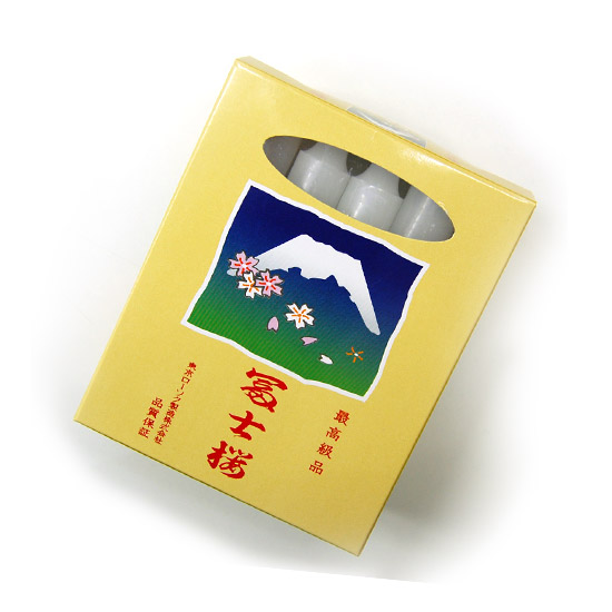 【ローソク】富士桜 スタンドキャンドル (燃焼時間約4時間・15本入り) 30個セット