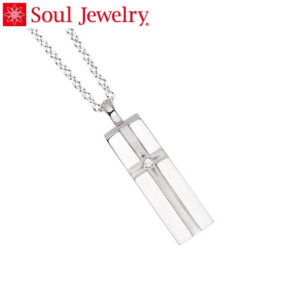 遺骨ペンダント Soul Jewelry プチピュアクロス シルバー925 『ダイヤモンド』