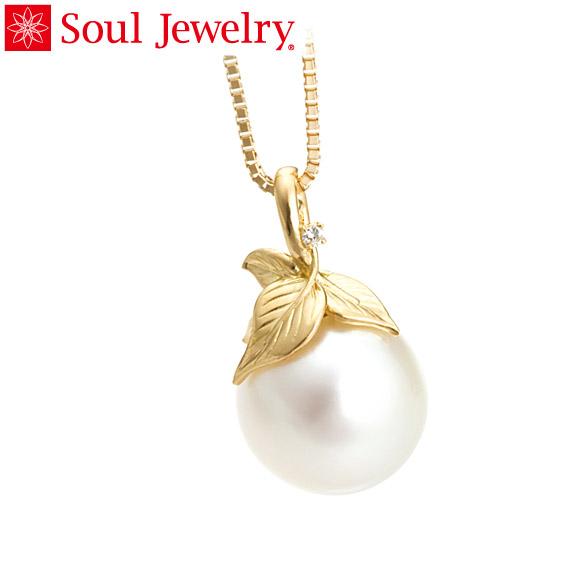 遺骨ペンダント Soul Jewelry パール&リーフ 『ホワイトパール』