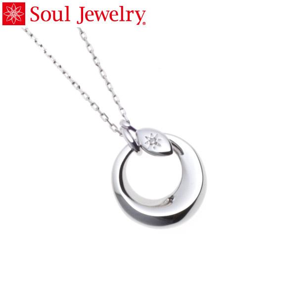 遺骨ペンダント Soul Jewelry チャーム リーフ (色:シルバー) シルバー925 『ダイヤモンド』