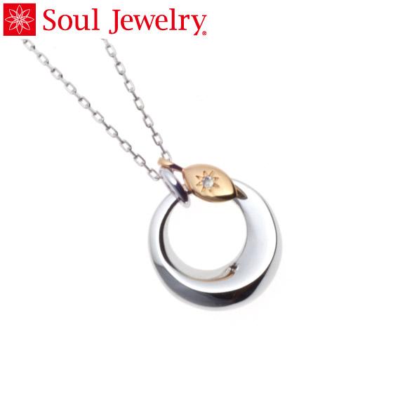 遺骨ペンダント Soul Jewelry チャーム リーフ (色:ゴールド) シルバー925 『ダイヤモンド』