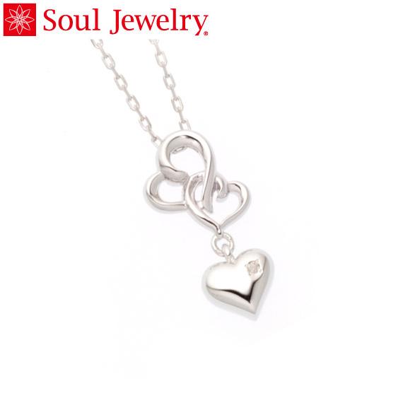 遺骨ペンダント Soul Jewelry ハートIII K18 ホワイトゴールド 『ダイヤモンド』 (予定納期約4週間)