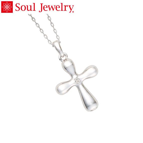 遺骨ペンダント Soul Jewelry クロス Pt900 プラチナ 『ダイヤモンド』 (予定納期約4週間)