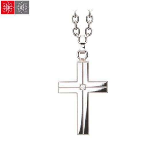 遺骨ペンダント Soul Jewelry ラインクロス 『プレーン』 (チェーンの色:シルバーカラー)  ステンレス316L