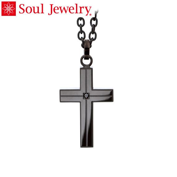 遺骨ペンダント Soul Jewelry ラインクロス 『ブラック』 (チェーンの色:ブラックカラー)  ステンレス316L