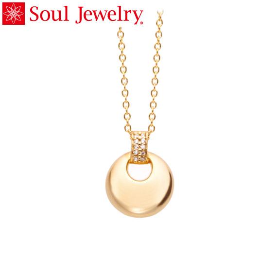 遺骨ペンダント Soul Jewelry パヴェ ドロップ K18 イエローゴールド (予定納期約4週間・代引のご注文は不可)