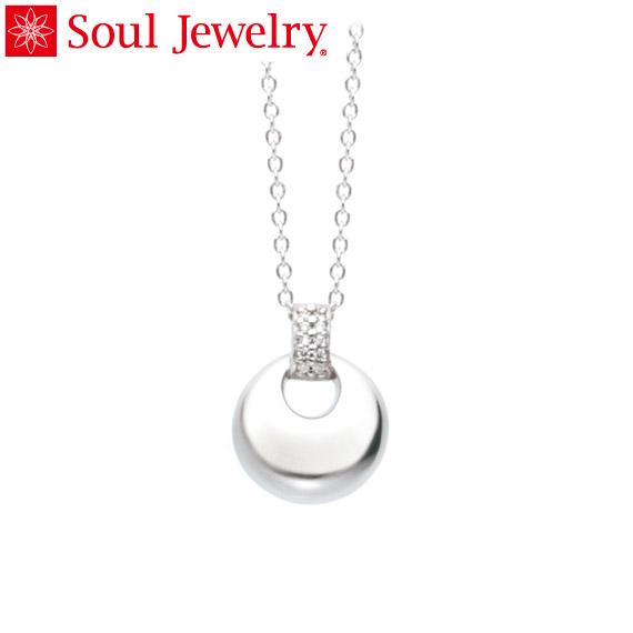 遺骨ペンダント Soul Jewelry パヴェ ドロップ K18 ホワイトゴールド (予定納期約4週間・代引のご注文は不可)