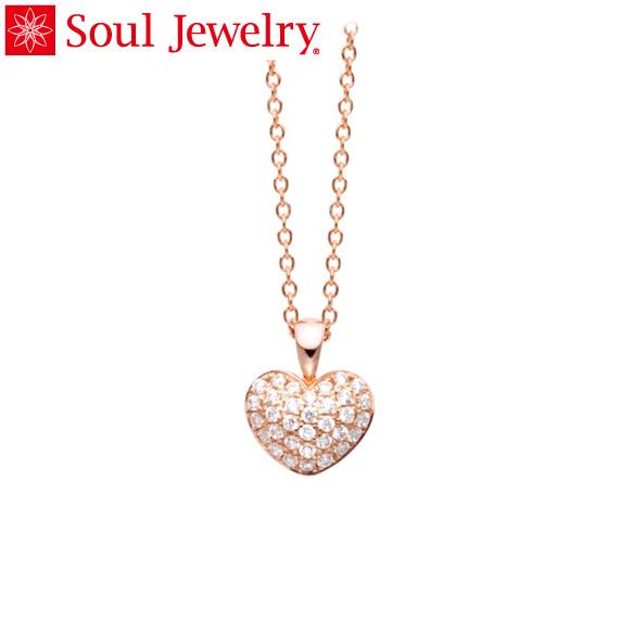 遺骨ペンダント Soul Jewelry パヴェ プチハート K18 ローズゴールド (予定納期約4週間・代引のご注文は不可)