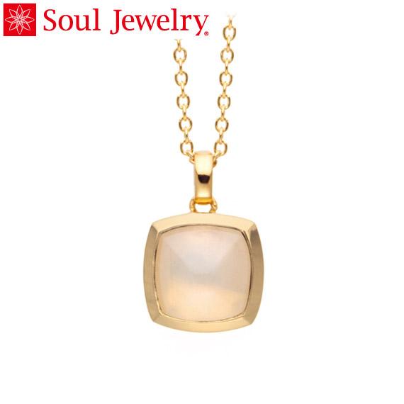 遺骨ペンダント Soul Jewelry ムーンストーン ピラミッド K18 イエローゴールド (予定納期約4週間・代引のご注文は不可)