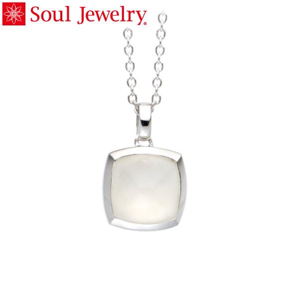 遺骨ペンダント Soul Jewelry ムーンストーン ピラミッド K18 ホワイトゴールド (予定納期約4週間・代引のご注文は不可)