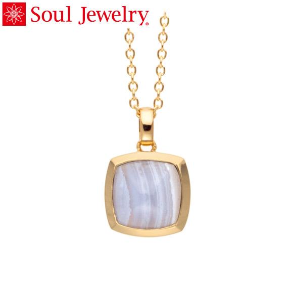 遺骨ペンダント Soul Jewelry ブルーレース ピラミッド K18 イエローゴールド (予定納期約4週間・代引のご注文は不可)