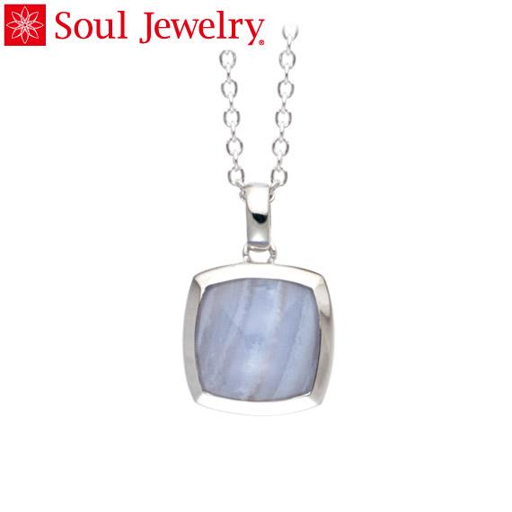 遺骨ペンダント Soul Jewelry ブルーレース ピラミッド Pt900 プラチナ (予定納期約4週間・代引のご注文は不可)