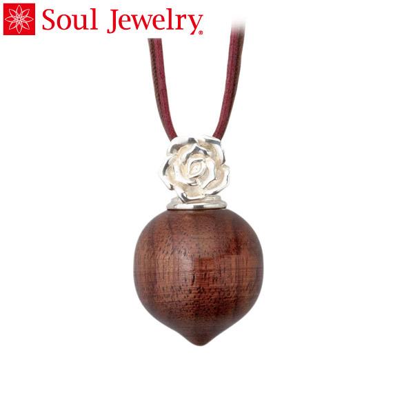 遺骨ペンダント Soul Jewelry カジュアル ウッド ローズ