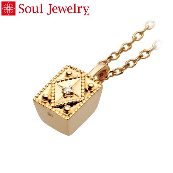 遺骨ペンダント Soul Jewelry クレスト K18 イエローゴールド・ダイヤモンド (予定納期約4週間・代引のご注文は不可)
