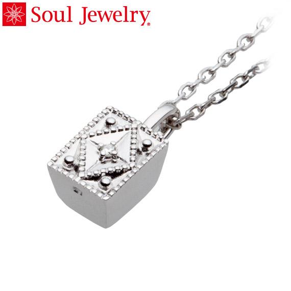 遺骨ペンダント Soul Jewelry クレスト K18 ホワイトゴールド・ダイヤモンド (予定納期約4週間・代引のご注文は不可)